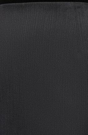 Женская шерстяная юбка BOSS серого цвета, арт. 50446600 | Фото 5