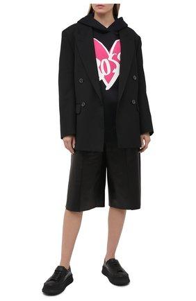 Женская худи BOSS черного цвета, арт. 50444773 | Фото 2