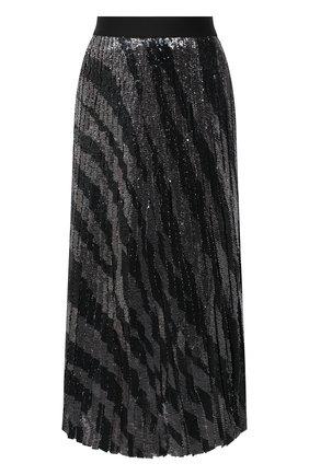 Женская юбка с пайетками BOSS черно-белого цвета, арт. 50444254 | Фото 1