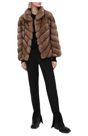 Женская шуба из меха соболя KUSSENKOVV светло-коричневого цвета, арт. 763600005245   Фото 2