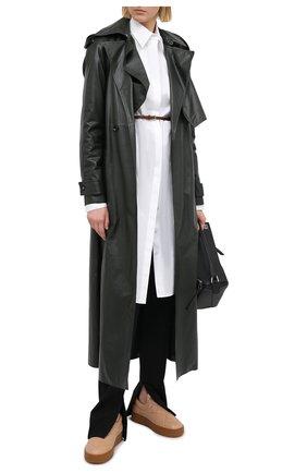 Женские кожаные слипоны BOTTEGA VENETA темно-бежевого цвета, арт. 639739/V02X0 | Фото 2