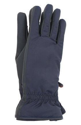 Женские перчатки icer LORO PIANA темно-синего цвета, арт. FAL0273 | Фото 1 (Материал: Кожа)