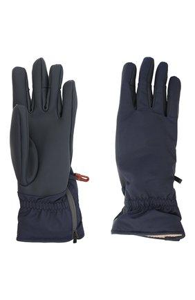 Женские перчатки icer LORO PIANA темно-синего цвета, арт. FAL0273 | Фото 2 (Материал: Кожа)