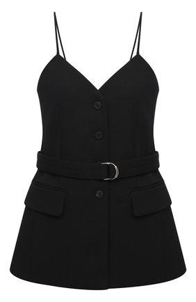 Женская шерстяной топ CHLOÉ черного цвета, арт. CHC20WHT31066   Фото 1