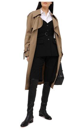 Женская шерстяной топ CHLOÉ черного цвета, арт. CHC20WHT31066   Фото 2