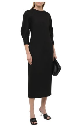 Женское платье BRANDON MAXWELL черного цвета, арт. DR252PF20 | Фото 2