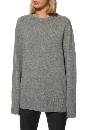 Женский свитер из шерсти и кашемира THE ROW серого цвета, арт. 5582Y184 | Фото 3