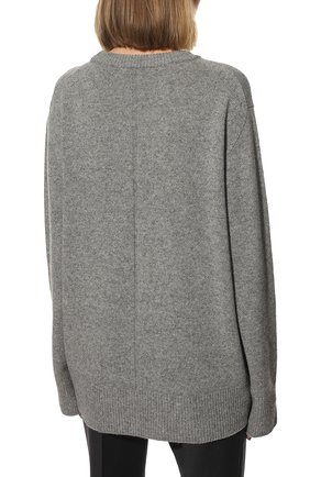 Женский свитер из шерсти и кашемира THE ROW серого цвета, арт. 5582Y184 | Фото 4