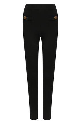 Женские леггинсы BALMAIN черного цвета, арт. VF15354/K050 | Фото 1