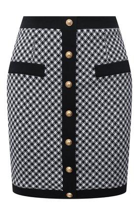 Женская юбка BALMAIN черно-белого цвета, арт. VF14064/J104 | Фото 1