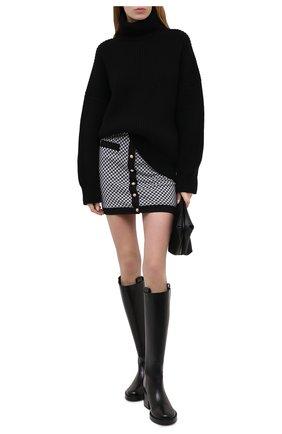 Женская юбка BALMAIN черно-белого цвета, арт. VF14064/J104 | Фото 2