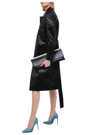 Женские кожаные туфли zoe SAINT LAURENT бирюзового цвета, арт. 601734/EX700 | Фото 2