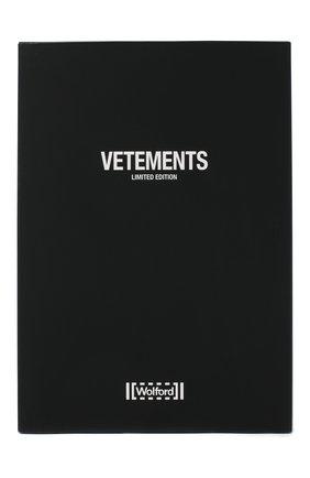 Женские колготки с логотипом бренда VETEMENTS черного цвета, арт. WAH21AC302 1380/BLACK | Фото 1