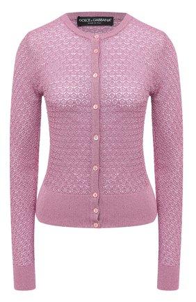Женский кардиган DOLCE & GABBANA светло-розового цвета, арт. FX855T/JAIED | Фото 1