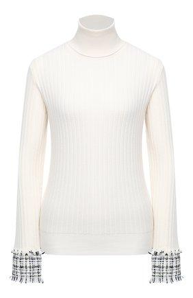 Женская шерстяная водолазка DOLCE & GABBANA белого цвета, арт. FX839T/JAM2X | Фото 1 (Материал внешний: Шерсть; Длина (для топов): Стандартные; Рукава: Длинные; Стили: Кэжуэл; Женское Кросс-КТ: Водолазка-одежда)