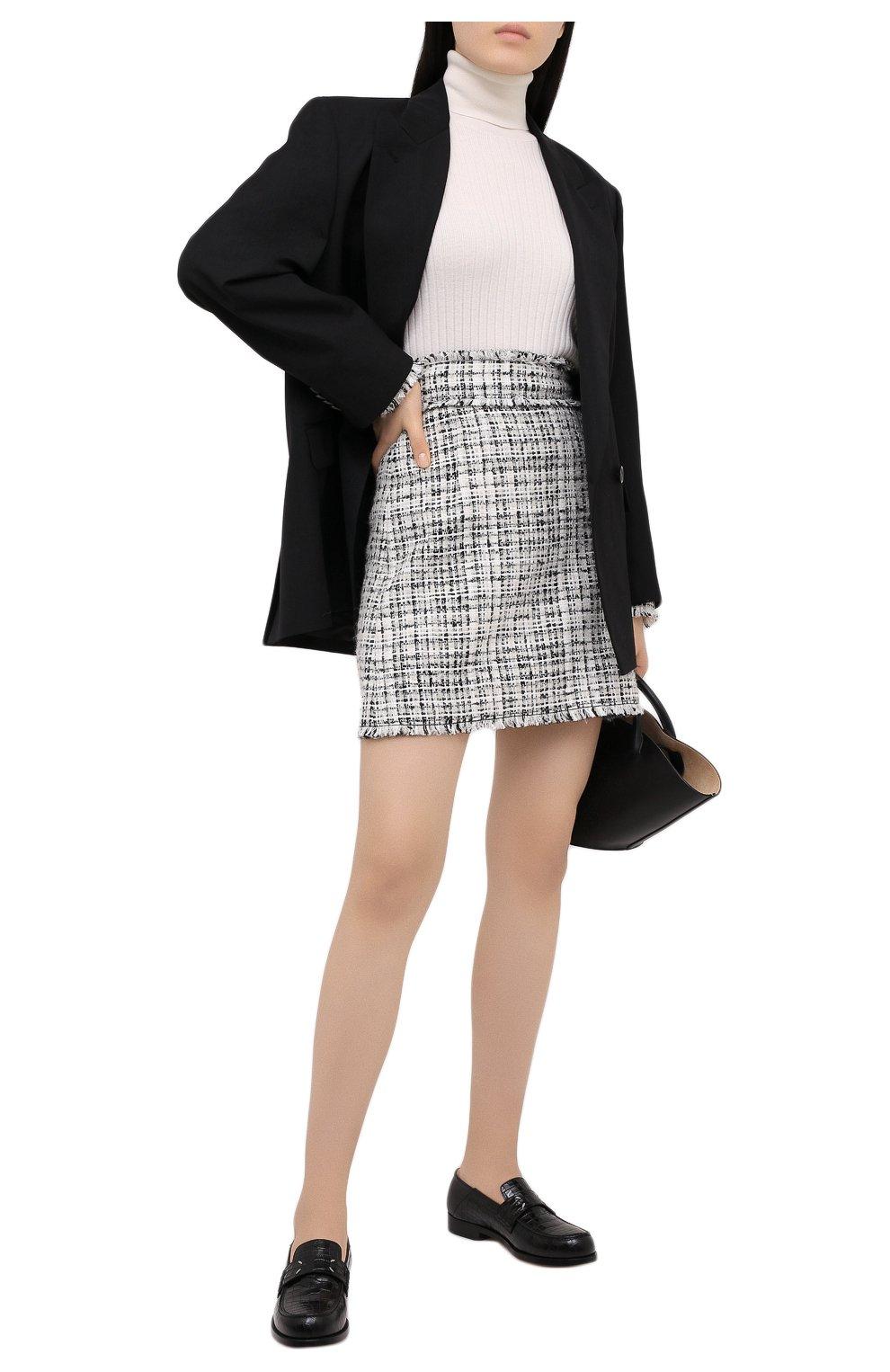 Женская шерстяная водолазка DOLCE & GABBANA белого цвета, арт. FX839T/JAM2X | Фото 2 (Женское Кросс-КТ: Водолазка-одежда; Материал внешний: Шерсть; Рукава: Длинные; Длина (для топов): Стандартные; Стили: Кэжуэл)