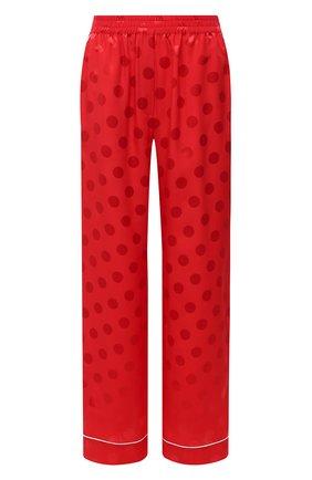 Женские шелковые брюки DOLCE & GABBANA красного цвета, арт. FTAMPT/FJ1HR | Фото 1