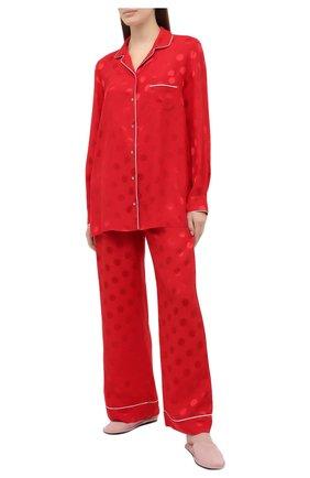 Женские шелковые брюки DOLCE & GABBANA красного цвета, арт. FTAMPT/FJ1HR | Фото 2