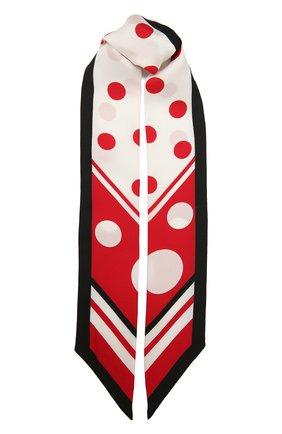 Женский шелковый платок DOLCE & GABBANA красного цвета, арт. FS215A/GDS31 | Фото 1