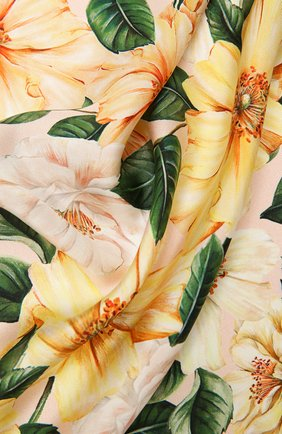 Женский шелковый платок DOLCE & GABBANA желтого цвета, арт. FN092R/GDV60 | Фото 2