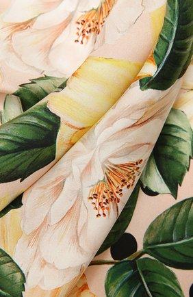 Женский шелковый платок DOLCE & GABBANA желтого цвета, арт. FN090R/GDV60 | Фото 2