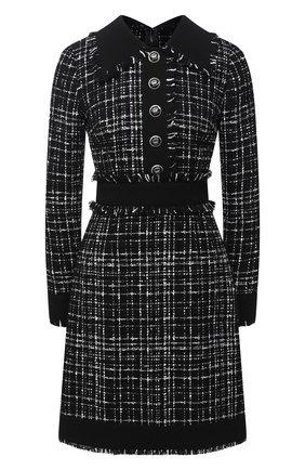 Женское платье DOLCE & GABBANA черного цвета, арт. F6H1WT/FMMFS | Фото 1