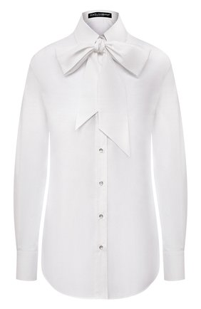 Женская хлопковая рубашка DOLCE & GABBANA белого цвета, арт. F5N24T/FU5K9 | Фото 1