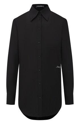 Женская хлопковая рубашка DOLCE & GABBANA черного цвета, арт. F5N10Z/GD0F7 | Фото 1