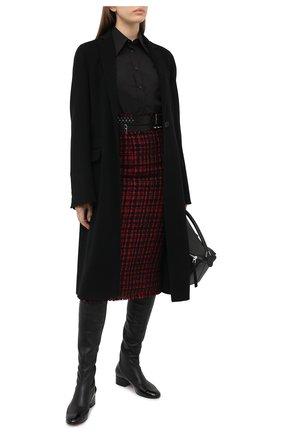 Женская хлопковая рубашка DOLCE & GABBANA черного цвета, арт. F5N10Z/GD0F7 | Фото 2