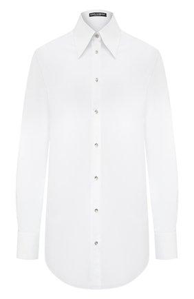 Женская хлопковая рубашка DOLCE & GABBANA белого цвета, арт. F5N07T/FU5K9 | Фото 1