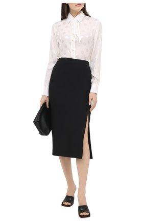 Женская шелковая блузка DOLCE & GABBANA белого цвета, арт. F5L76T/FJ1HR | Фото 2