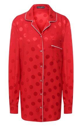 Женская шелковая блузка DOLCE & GABBANA красного цвета, арт. F5G56T/FJ1HR | Фото 1