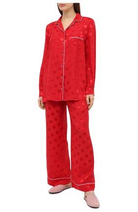 Женская шелковая блузка DOLCE & GABBANA красного цвета, арт. F5G56T/FJ1HR | Фото 2