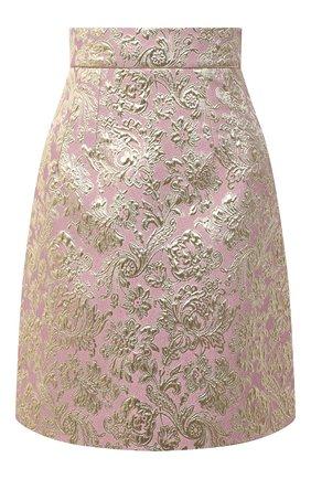 Женская юбка DOLCE & GABBANA розового цвета, арт. F4BYYT/HJMLB | Фото 1