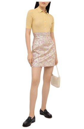 Женская юбка DOLCE & GABBANA розового цвета, арт. F4BYYT/HJMLB | Фото 2