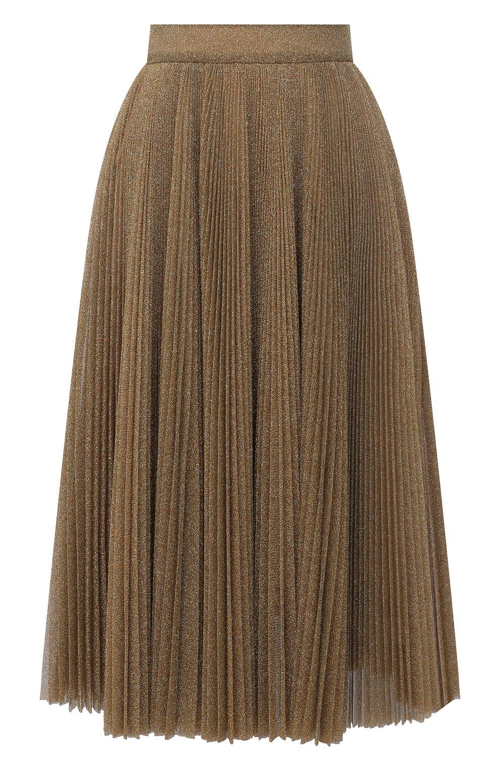 Женская юбка DOLCE & GABBANA бронзового цвета, арт. F4BYWT/FLMGR | Фото 1