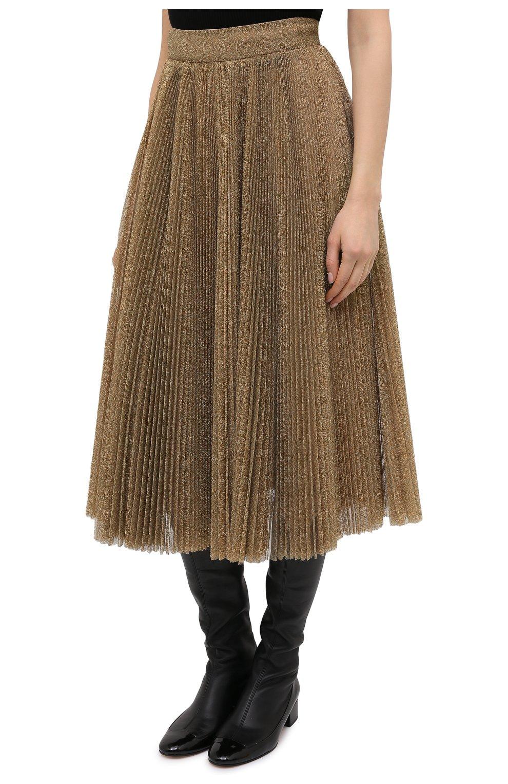Женская юбка DOLCE & GABBANA бронзового цвета, арт. F4BYWT/FLMGR | Фото 3