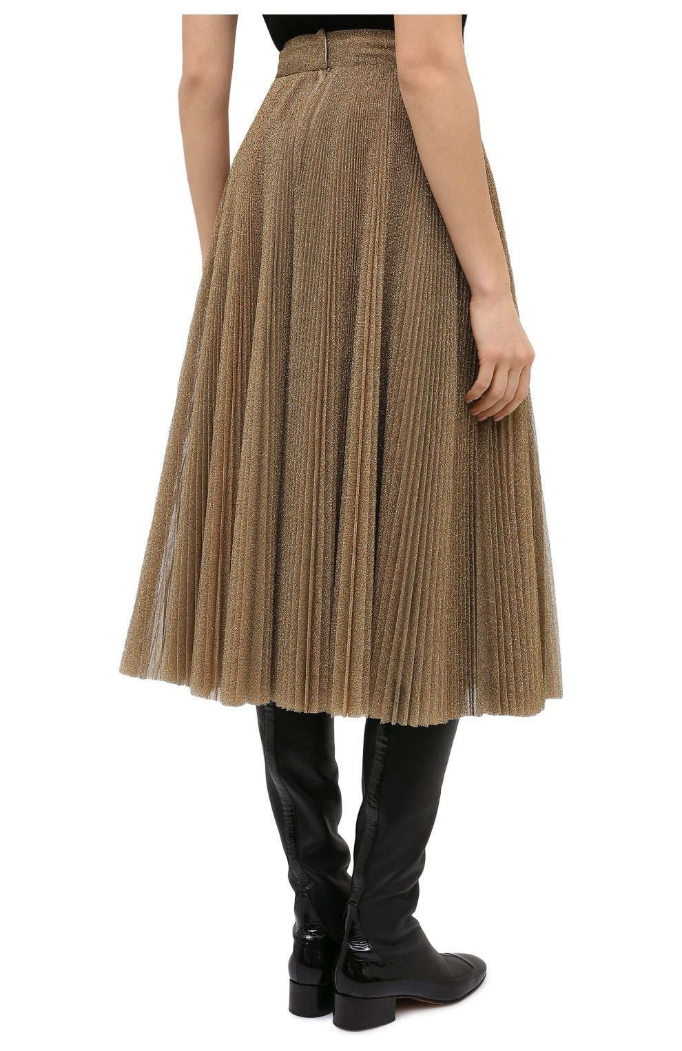 Женская юбка DOLCE & GABBANA бронзового цвета, арт. F4BYWT/FLMGR | Фото 4
