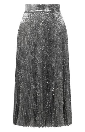 Женская юбка DOLCE & GABBANA серебряного цвета, арт. F4BYGT/FLMK4 | Фото 1