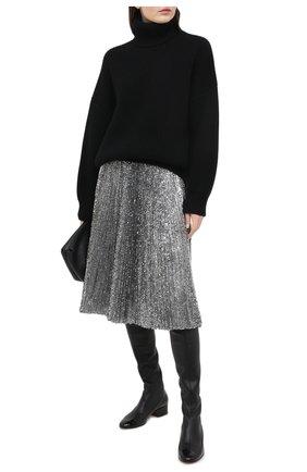 Женская юбка DOLCE & GABBANA серебряного цвета, арт. F4BYGT/FLMK4 | Фото 2