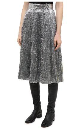 Женская юбка DOLCE & GABBANA серебряного цвета, арт. F4BYGT/FLMK4 | Фото 3