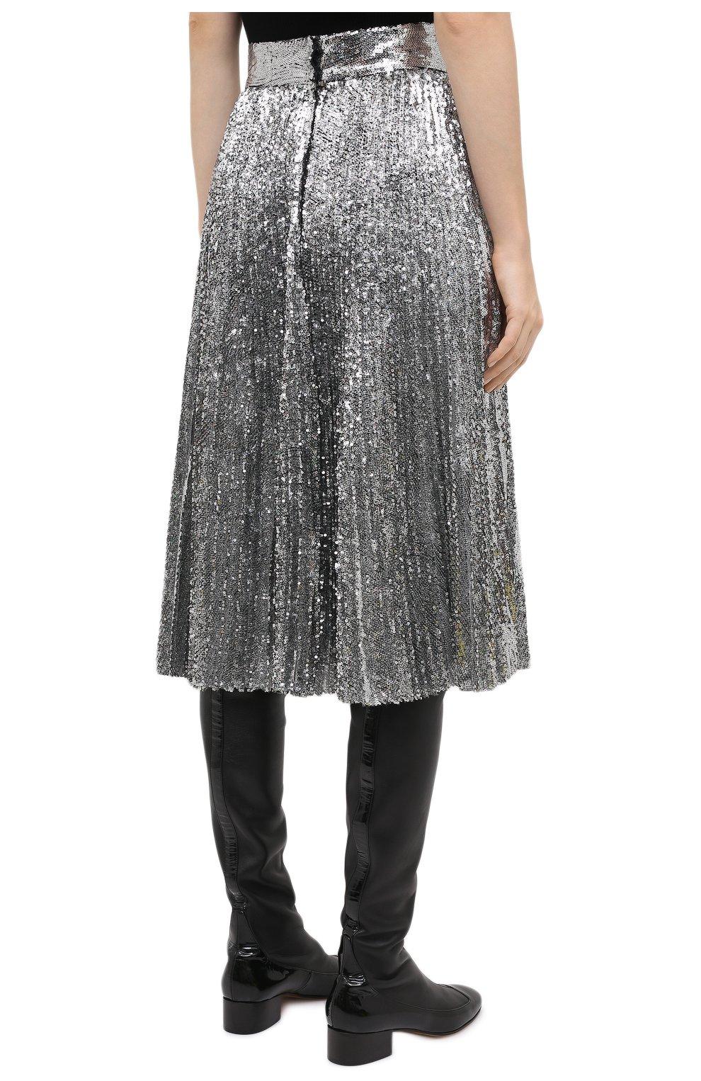 Женская юбка DOLCE & GABBANA серебряного цвета, арт. F4BYGT/FLMK4 | Фото 4