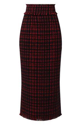 Женская юбка DOLCE & GABBANA красного цвета, арт. F4BV0T/FMMFQ | Фото 1