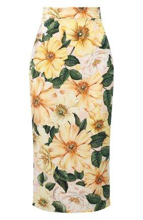 Женская юбка DOLCE & GABBANA желтого цвета, арт. F4BTZT/FSA0E | Фото 1