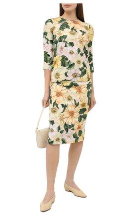 Женская юбка DOLCE & GABBANA желтого цвета, арт. F4BTZT/FSA0E | Фото 2