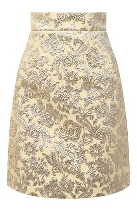 Женская юбка DOLCE & GABBANA золотого цвета, арт. F4B0CT/HJMLB | Фото 1