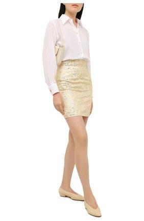 Женская юбка DOLCE & GABBANA золотого цвета, арт. F4B0CT/HJMLB | Фото 2