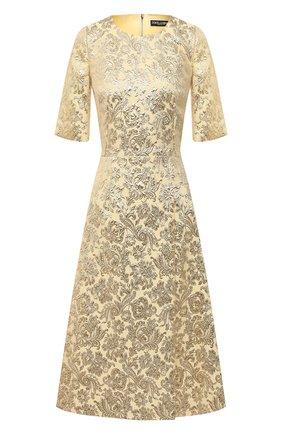 Женское платье DOLCE & GABBANA золотого цвета, арт. F6I5TT/HJMLB | Фото 1