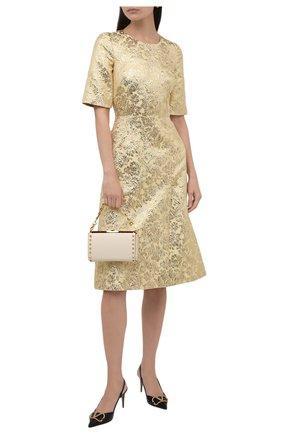 Женское платье DOLCE & GABBANA золотого цвета, арт. F6I5TT/HJMLB | Фото 2