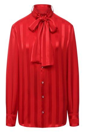 Женская шелковая блузка DOLCE & GABBANA красного цвета, арт. F5L73T/FJ1HS | Фото 1